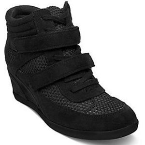Madden Girl Hickorry Black Wedge Fashion Sneakers